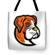 Boxer Dog Mascot Tote Bag