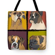 Boxer Dog Portraits Tote Bag by Robyn Saunders