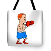 Boxer Fighting Stance Cartoon Tote Bag