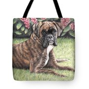 Boxer Girl Tote Bag
