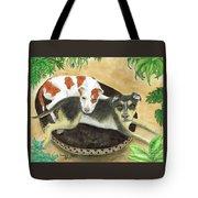 Boxer Hound Cross Dogs Plants Animals Cathy Peek Tote Bag