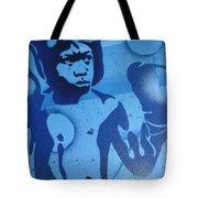 Boxer In Blue Tote Bag