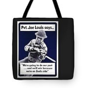 Boxer Joe Lewis As Army Private Poster 1942 Color And Frame Added 2016 Tote Bag