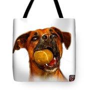 Boxer Mix Dog Art - 8173 - Wb Tote Bag by James Ahn