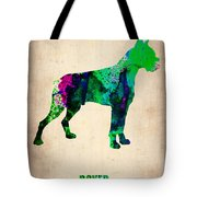 Boxer Poster Tote Bag by Naxart Studio