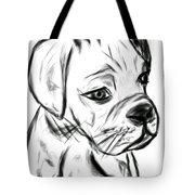 Boxer Pup Tote Bag
