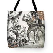 Boxer Rebellion Cartoon Tote Bag