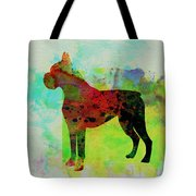 Boxer Watercolor Tote Bag by Naxart Studio