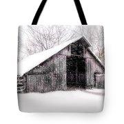 Boxley Snow Barn Tote Bag