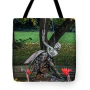 Boy And Bird Tote Bag