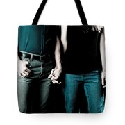 Boy And Girl Sitting In A ... Tote Bag
