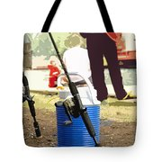 Boy And His Dad Tote Bag
