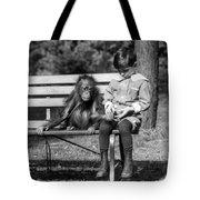 Boy And Orangutan Tote Bag