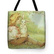 Boy And Rabbit Tote Bag
