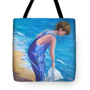 Boy At The Beach Tote Bag