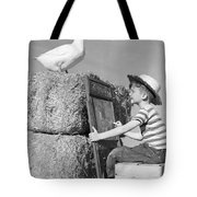 Boy Drawing Duck, C.1950s Tote Bag