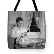 Boy Drying Dishes, C.1950s Tote Bag