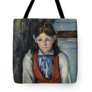 Boy In A Red Vest Tote Bag