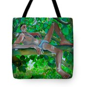 Boy In A Tree Tote Bag