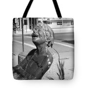 Boy In Fountain Sculture Grand Junction Co Tote Bag