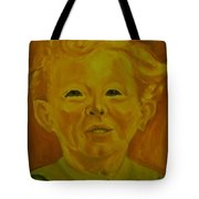 Boy In Green Blouse Tote Bag