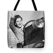 Boy In In Go-cart, C.1940-30s Tote Bag