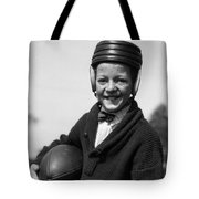 Boy In Old-fashioined Football Gear Tote Bag