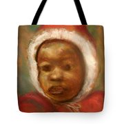 Boy In Red Tote Bag