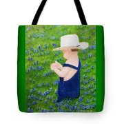 Boy In The Bluebonnets Tote Bag