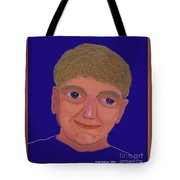 Boy On Blue Tote Bag