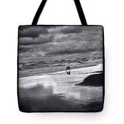 Boy On Shoreline Tote Bag