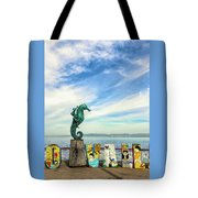 Boy On The Seahorse Tote Bag