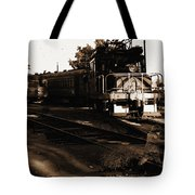 Boy On The Tracks Tote Bag