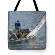 Boy Sailing Tote Bag