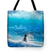 Boy And Wave   Kekaha Beach Tote Bag