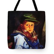 Boy With A Green Cap Also Known As Chico 1922 Tote Bag