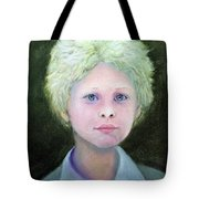 Boy With Curly Hair Tote Bag