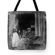 Boy With Tuberculosis In Bath Chair Tote Bag