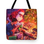Boys And Their Trains Tote Bag