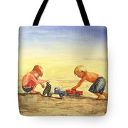 Boys And Trucks On The Beach Tote Bag