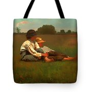 Boys In A Pasture Tote Bag