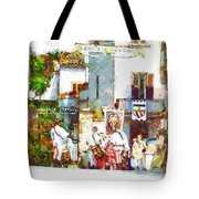 Boys In Medieval Dress Tote Bag