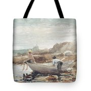 Boys On The Beach Tote Bag by Winslow Homer