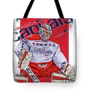 Braden Holtby Washington Capitals Oil Art Tote Bag