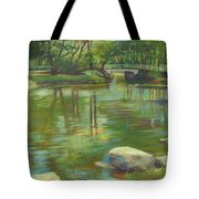Bradford Ma College Pond Tote Bag