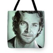 Bradley Cooper Charcoal Portrait Tote Bag