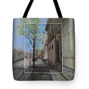 Brady Street With Tree Layered Tote Bag