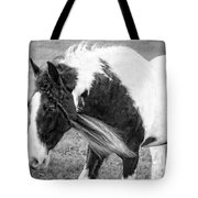 Braids In Mane B/w Tote Bag
