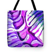 Brain Coral Abstract 4 In Purple Tote Bag