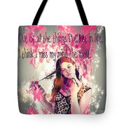 Brainless Teen Bimbo Tote Bag